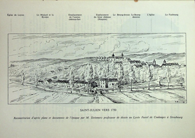 Dessin Saint Julien vers 1750