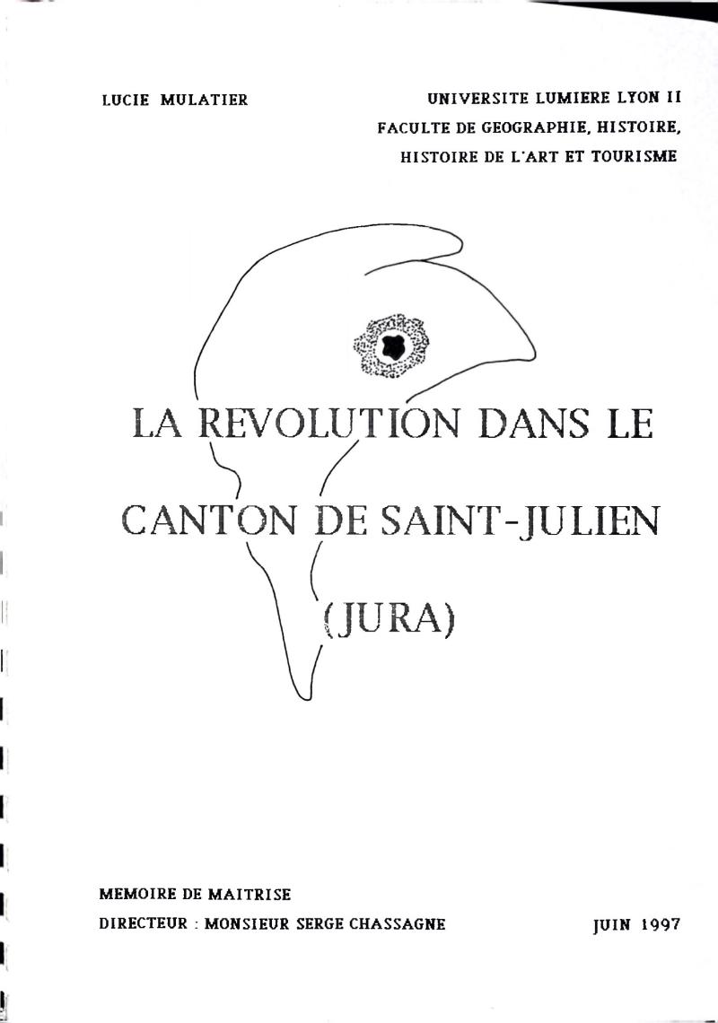 Couverture du mémoire de Lucie MULATIER